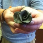 A beautiful rose made of clay