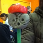 A hand puppet made of clay